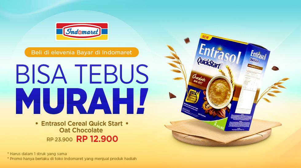 Elevenia - Promo Tebus Murah Entrasol Cereal / Oat Dengan Bayar di Indomaret