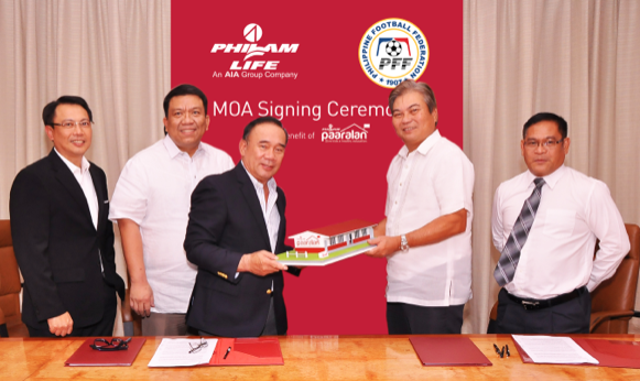 From left to right: Philam Life Chief Marketing Officer Jaime Jose Javier,  Jr., Philam Foundation, Inc. President Max G. Ventura, Philam Life Chief ...
