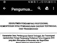 Penerimaan Pendamping Lokal Desa Untuk Kabupaten Pesisir Selatan dan Padang Pariaman