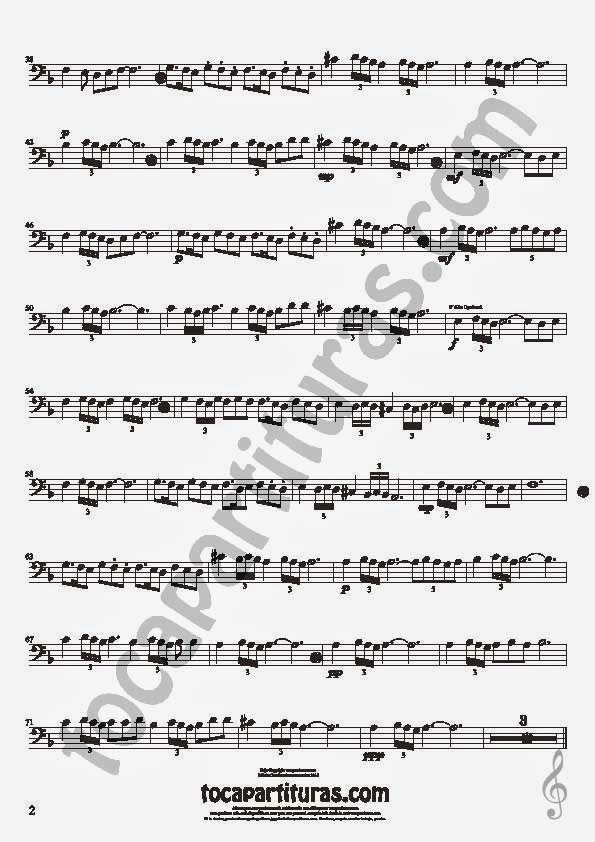 2  Bulería Lenta Partitura de Violonchelo y Fagot Sheet Music for Cello and Bassoon Music Scores Flamenco