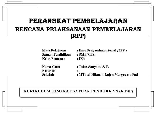 Contoh RPP IPS Kelas 9 KTSP