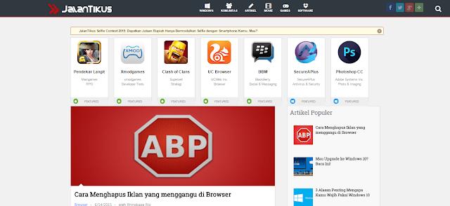 Jalan Tikus Blogger Template And Free Download