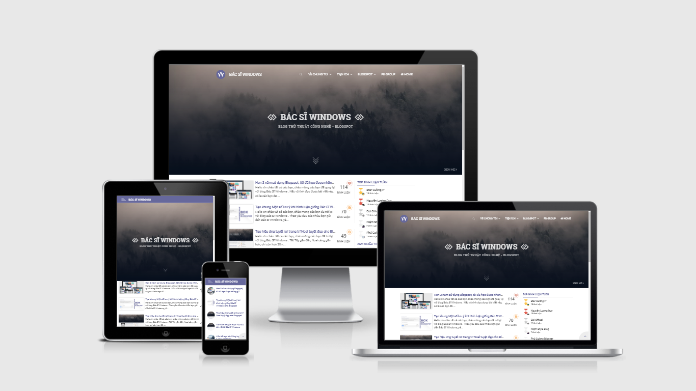 BSW Simple Blogging - Responsive Template for Blogspot