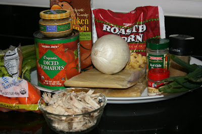 these are the ingredients you need to make crockpot chicken tortilla soup