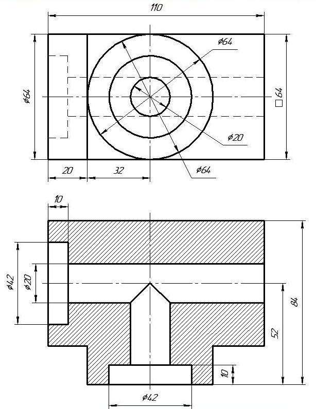 Разрезы на чертежах гдз 9 класс ботвинников рисунок 187 а