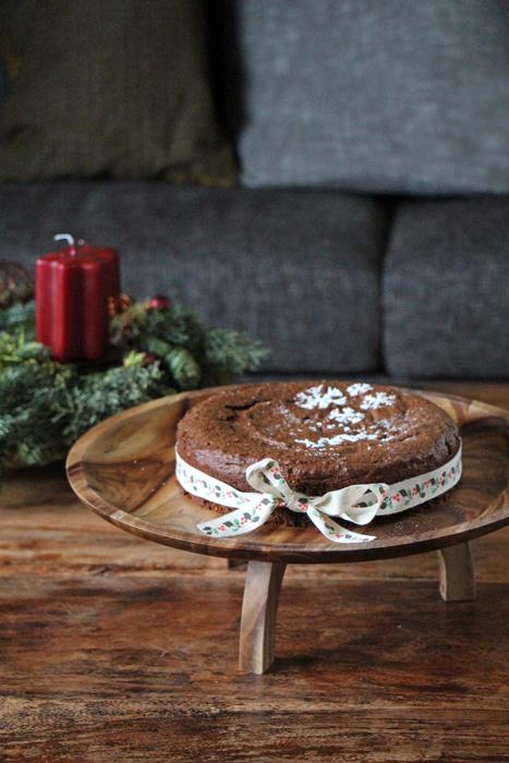 Weihnachtlicher Schokoladenkuchen