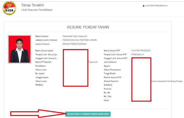 gambar cara cetak kartu pendaftaran sscn 2018