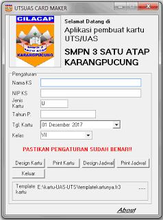 Aplikasi Kartu Peserta UTS, UAS Terbaru