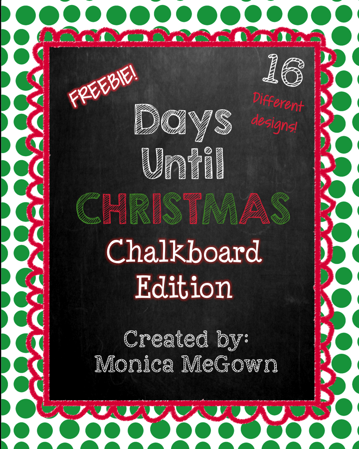 Days Till Christmas Chalkboard.Mrs Megown S Second Grade Safari Days Until Christmas