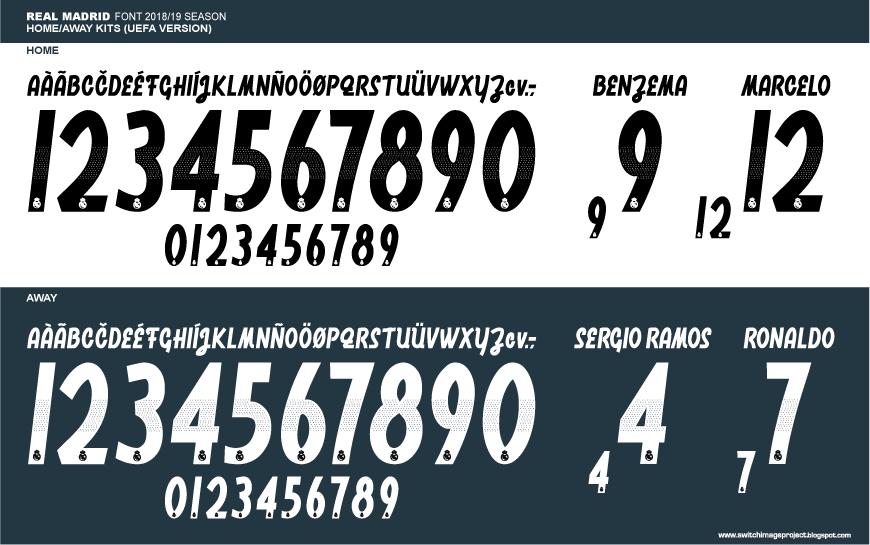 Image result for real madrid jersey font 2018