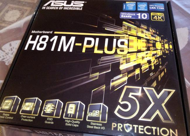 Коробка от ASUS H81M-Plus
