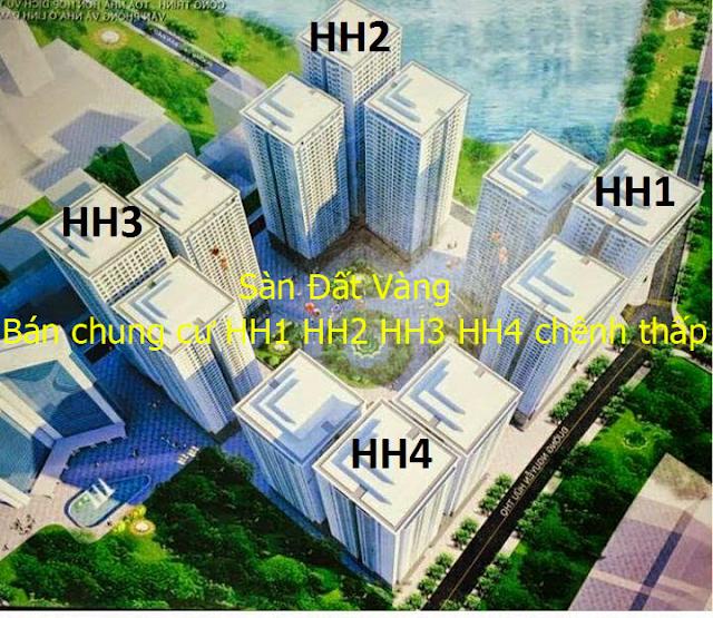 Bán chung cư HH1 HH2 HH3 HH4 Linh Đàm chênh thấp