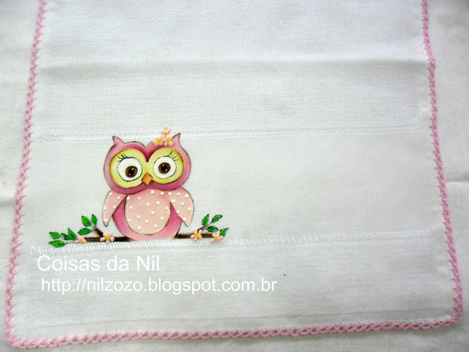 Excepcional Coisas da Nil - Pintura em tecido: Coruja ahahah!!!! EH51