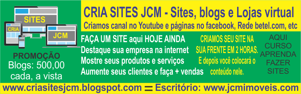 CRIA SITES JCM - Web designer