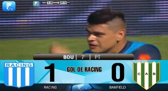 Bou anotó el gol del triunfo de Racing