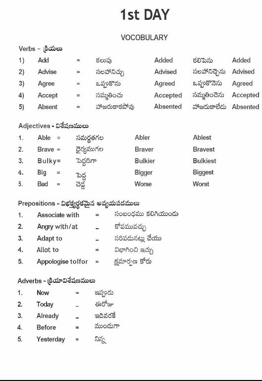 Daily Words English to Telugu - Apps on Google Play