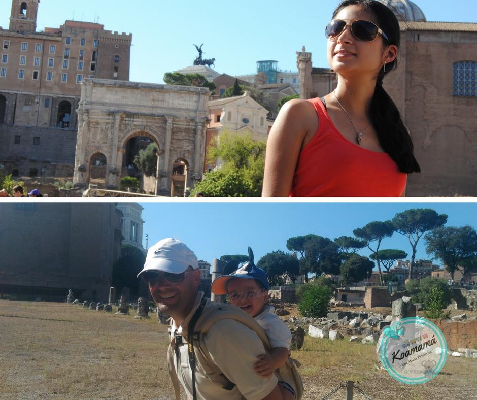 foro romano en familia