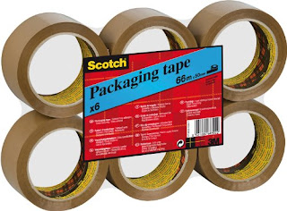 Scotch C5066F6 Packing Tape LOWEST Brown £5.49 Clear £6.79 totals 6 Rolls by amazon