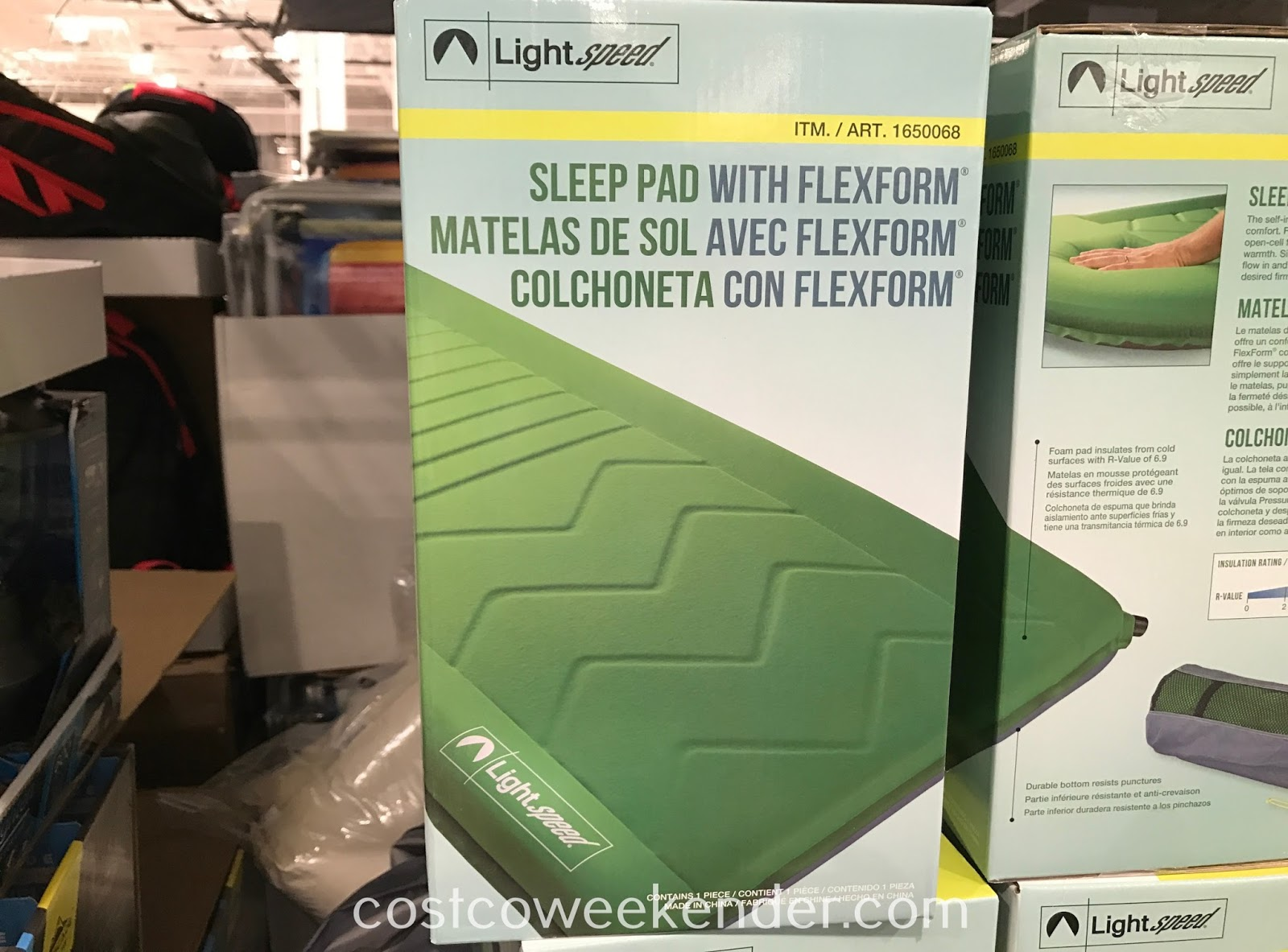Don't sleep on the cold, hard ground when camping with the Lightspeed Self-Inflating Sleep Pad with FlexForm