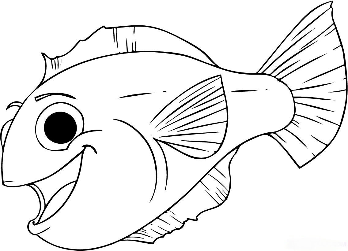 Desenhos Para Colorir: Peixes