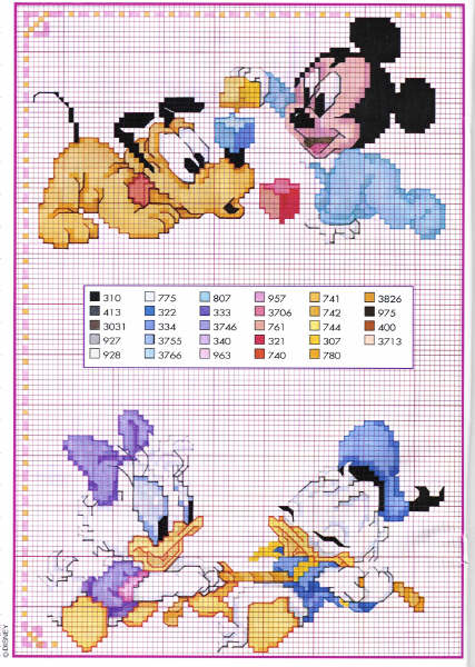 Schemi Punto Croce Personaggi Disney Pensa Realizza