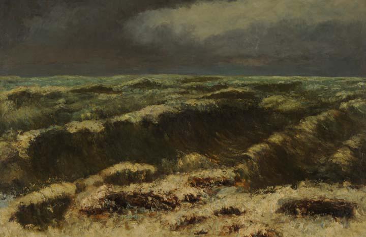 Mer Ourageuse (Mar Borrascoso) (1870) de Gustave Courbet