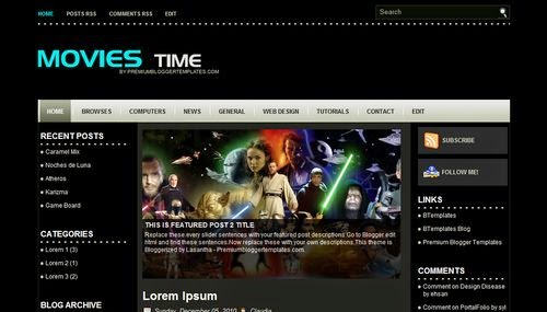 Movies Time Free Blogger Template