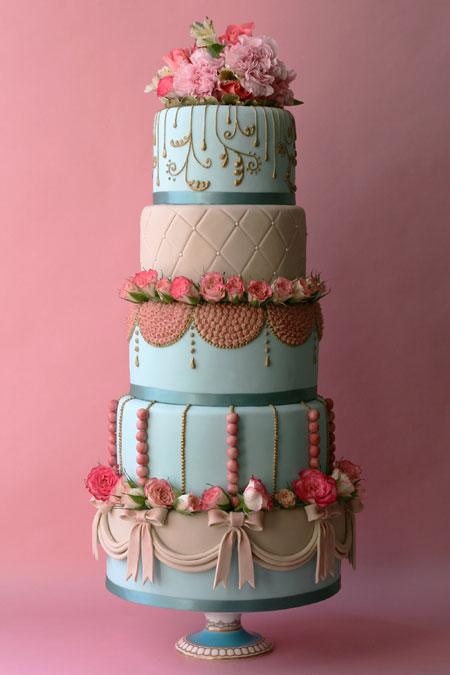 Stacked Wedding Cake Construction