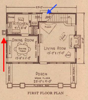 sears sunbeam floor plan 1925 catalog