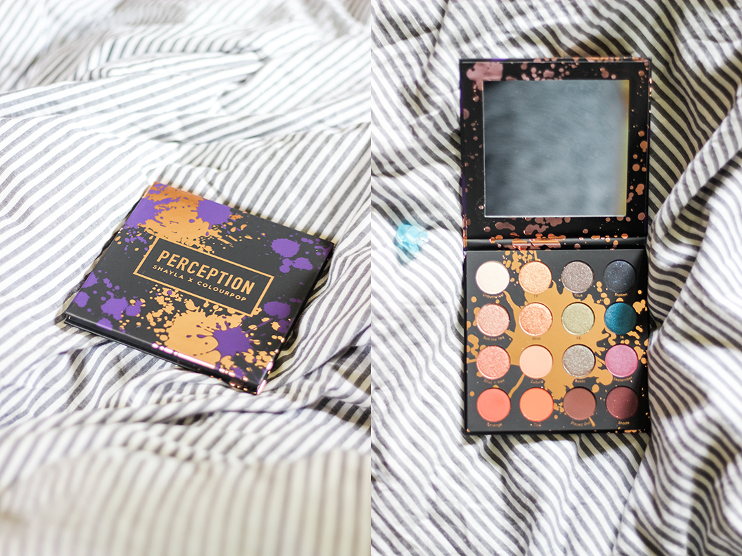 SHAYLAXCOLOURPOP MAKEUPSHAYLA COLOURPOP COSMETICS PERCEPTION PALETTE SWATCHES REVIEW BEAUTY