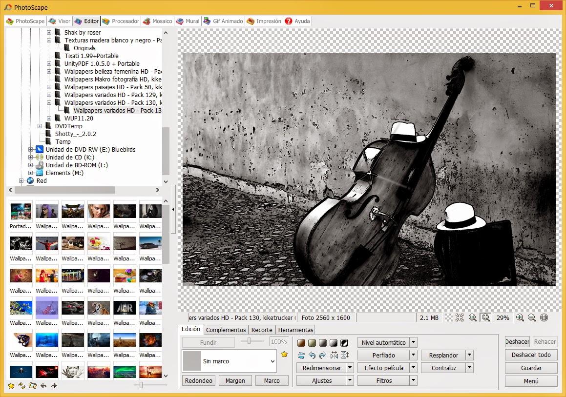 Práctico y completo editor de imágenes