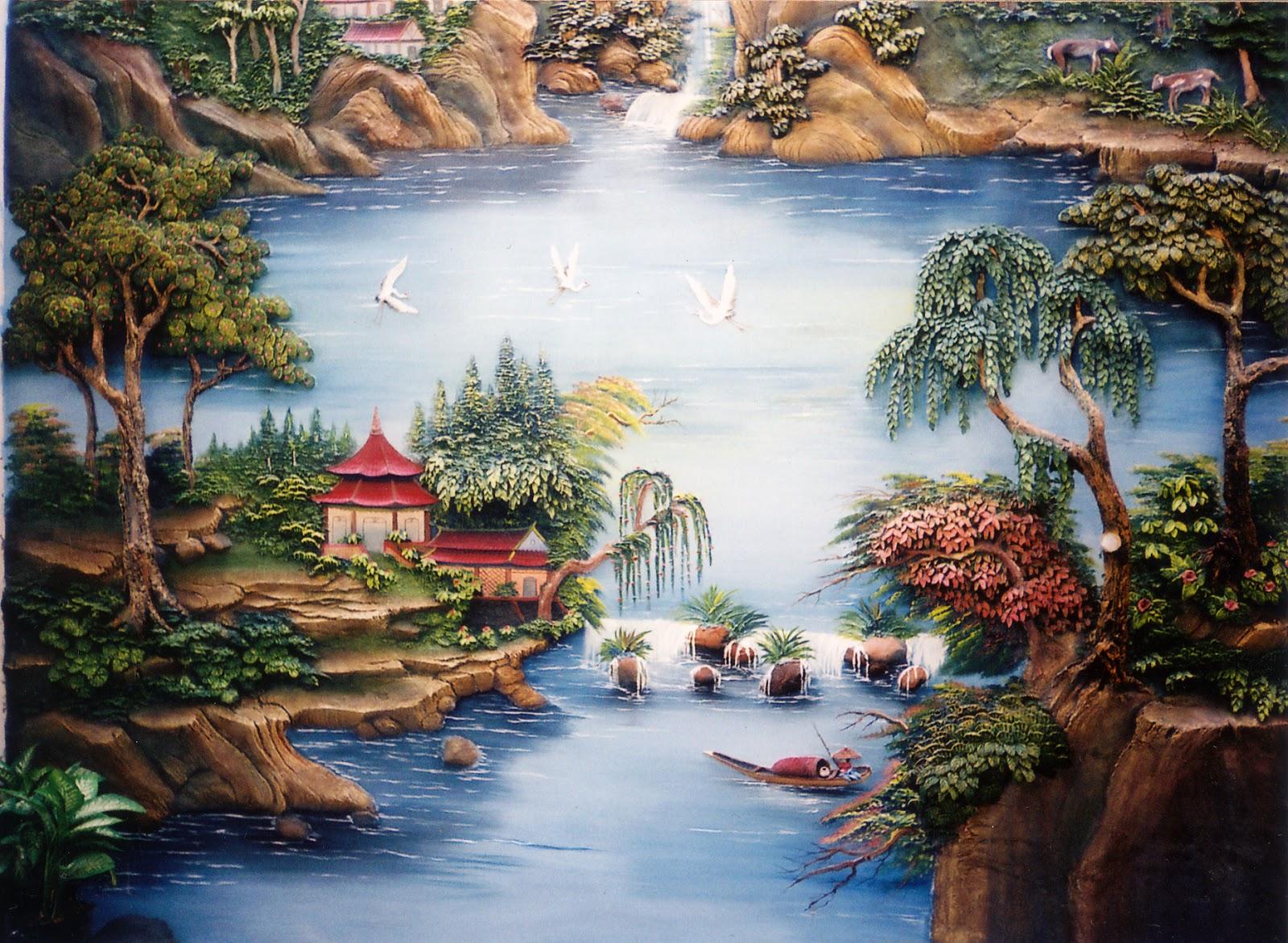 71 Lukisan Pemandangan Full Hd Gratis Terbaik