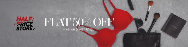 Zivame  Offer Half Price Store collection Flat 50% off on All Range