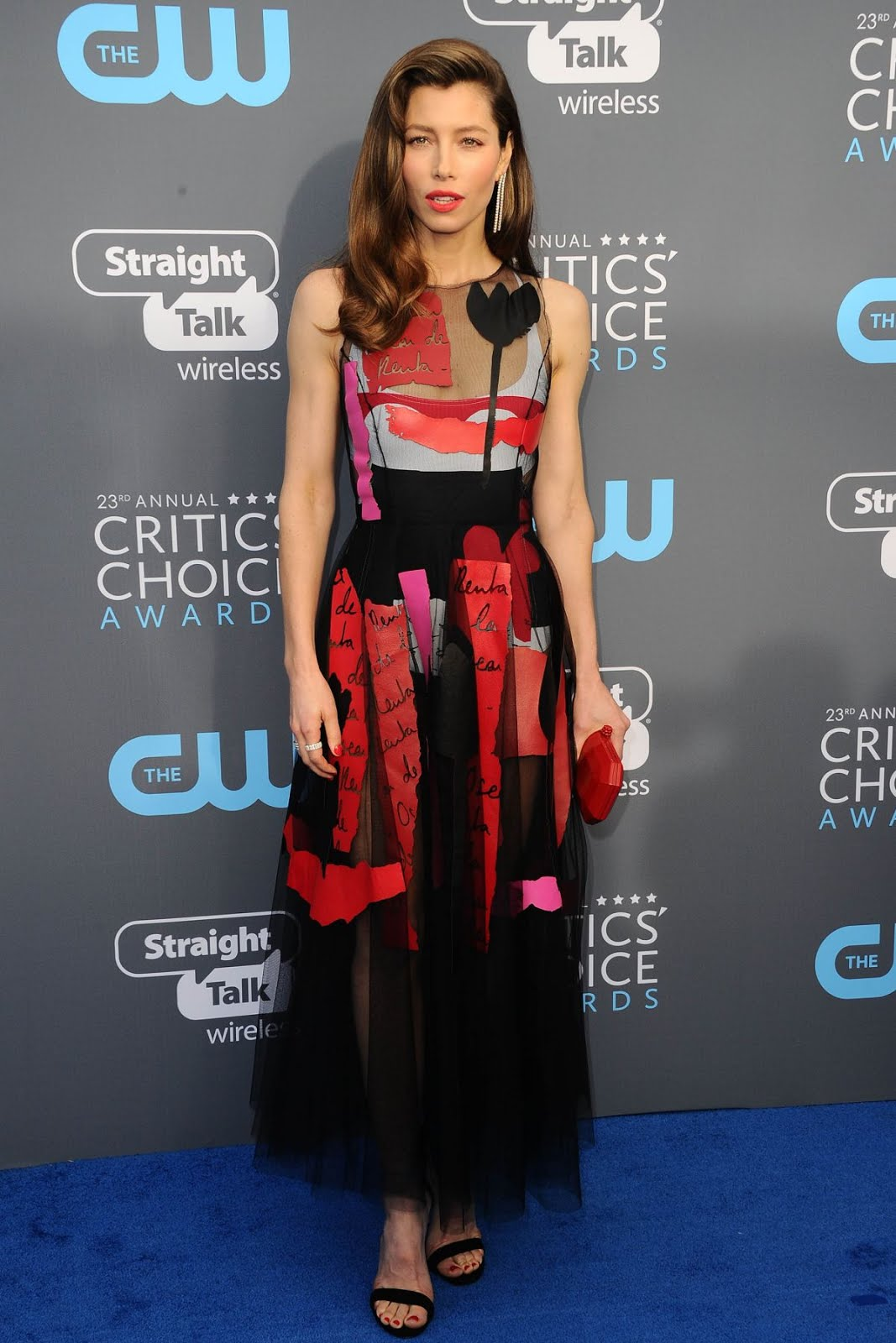 Jessica Biel At 2018 critics Choice Awards In Santa Monica