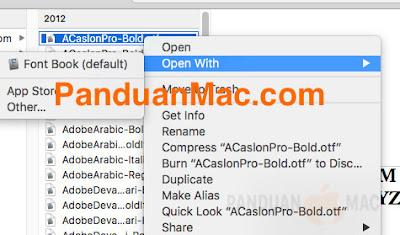 3 Cara Install Font di Mac OS X dan macOS yang Baik dan Benar