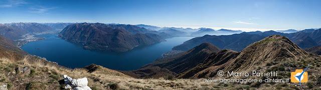 Lago Maggiore dalla vetta Monte Faierone