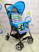 Samping Blue Does DS209 Kereta Dorong Bayi