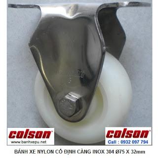 Bánh xe đẩy càng inox 304 Colson Nylon 6 PA phi 75 | 2-3308SS-254 www.banhxepu.net