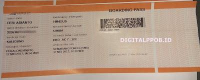 Boarding Pass Tiket Kereta DIGITALPPOB.ID