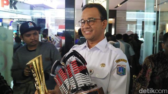 Gubernur DKI Anies Baswedan Raih Tiga Penghargaan dari KPK