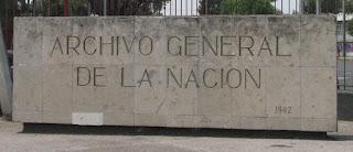 Placa Archivo General del Nación.