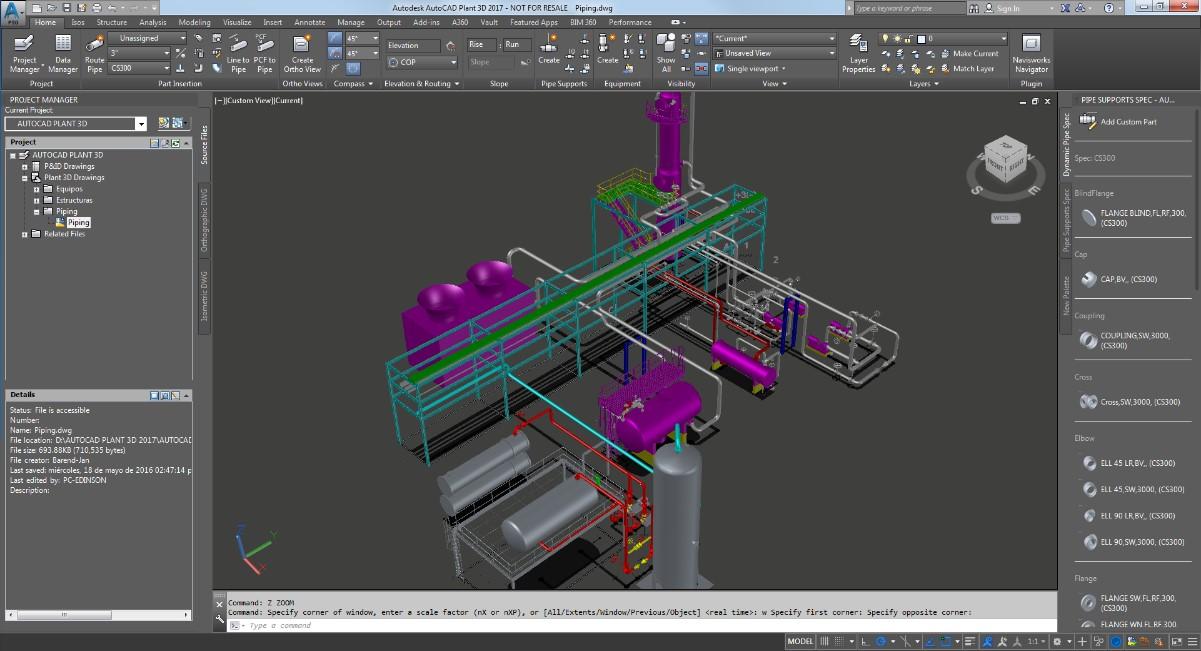 comunicacion AutoCAD Plant 3D y Advance Steel