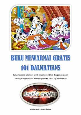Buku Mewarnai Gratis 101 Dalmatians
