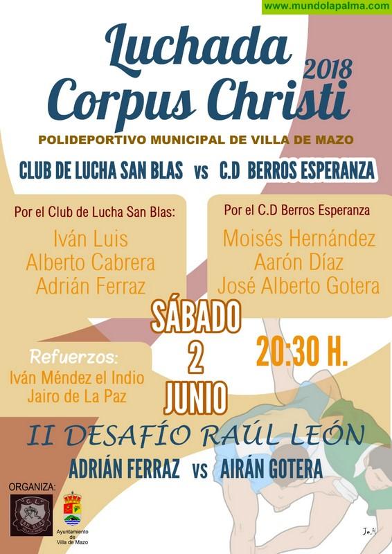 Villa de Mazo celebra este sábado su tradicional Luchada Corpus Christi