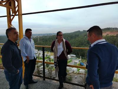 Equipe de Sete Barras visita aterro sanitário em Caieiras