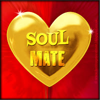 Soul Mate text on gold heart free image for texting