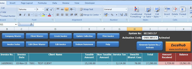 invoice preperation utility in excel - excelhub, Invoice examples