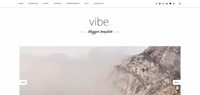 Vibe Free Blogger Template