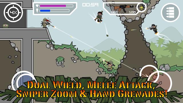 Tampilan Game Doodle Army 2 Mini Militia