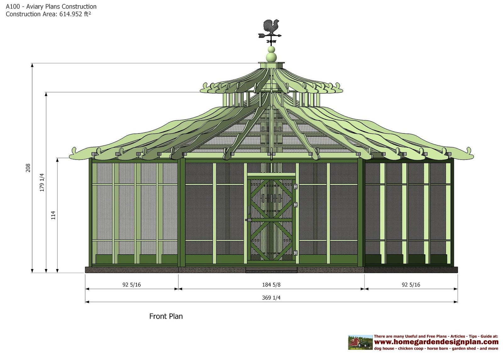 Home garden plans a100 aviary plans construction for Building a quail house